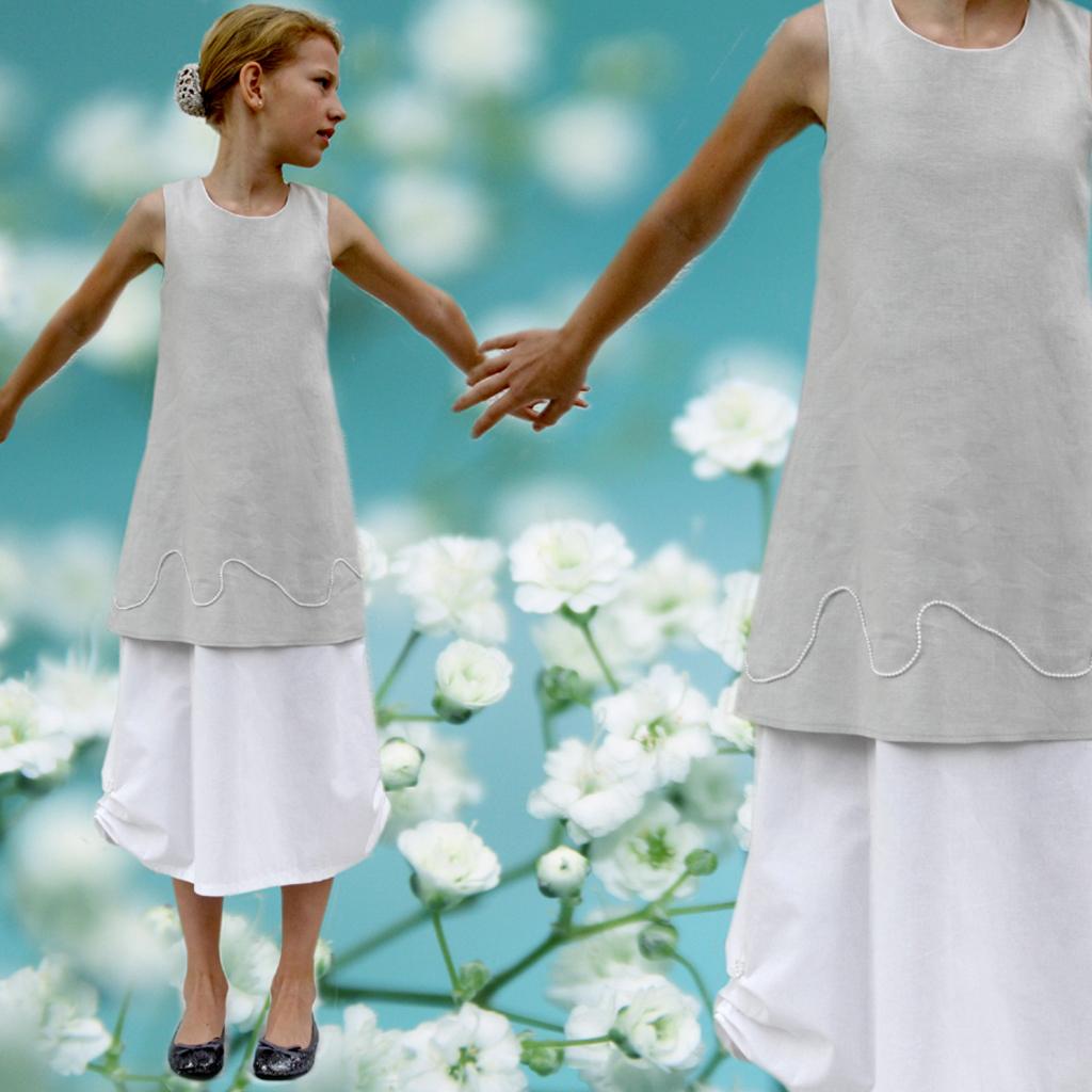 Leinen Kommunionskleid