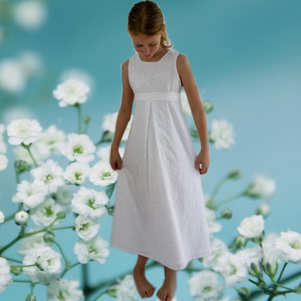Sommerkleid weiß- Kommunionskleid
