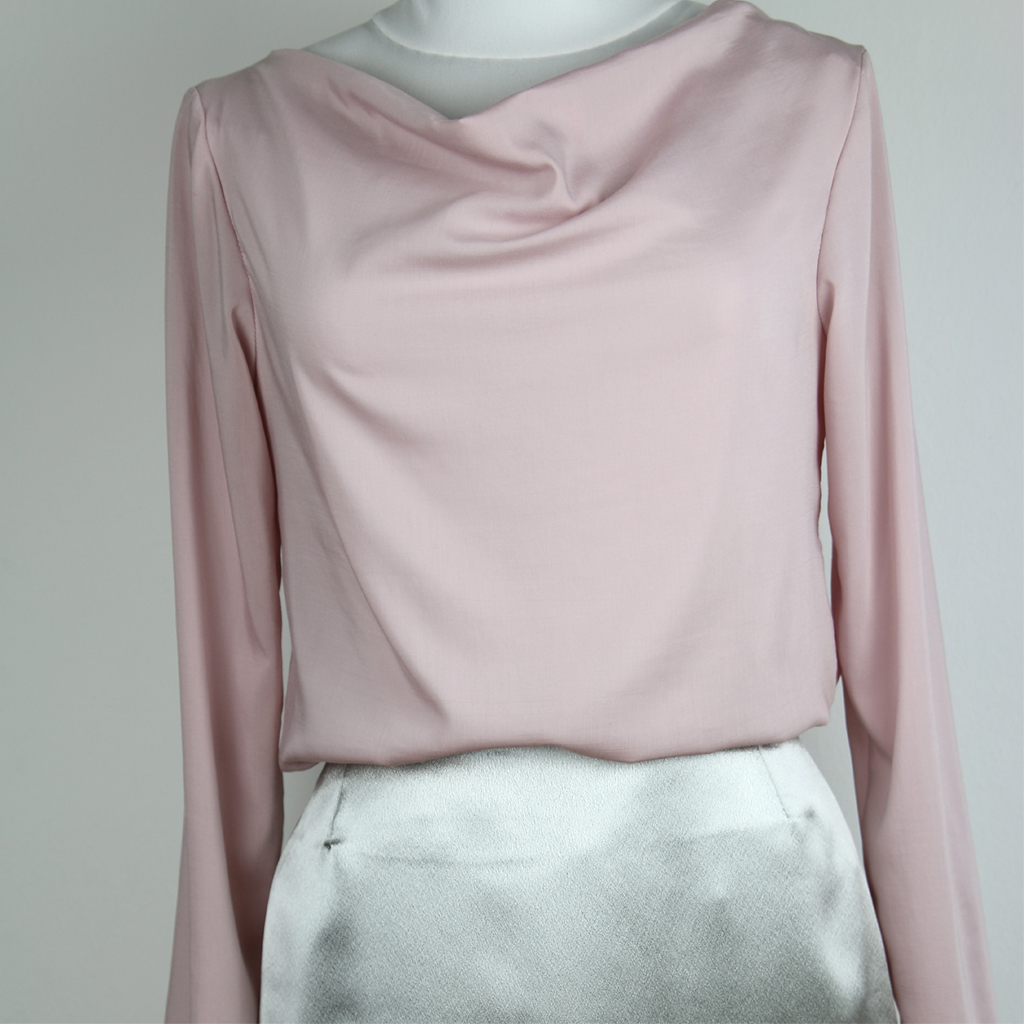 elegante Quarzfarbene Bluse