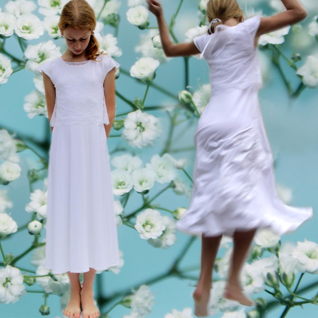 Jerseykleid elegant mit Spitze
