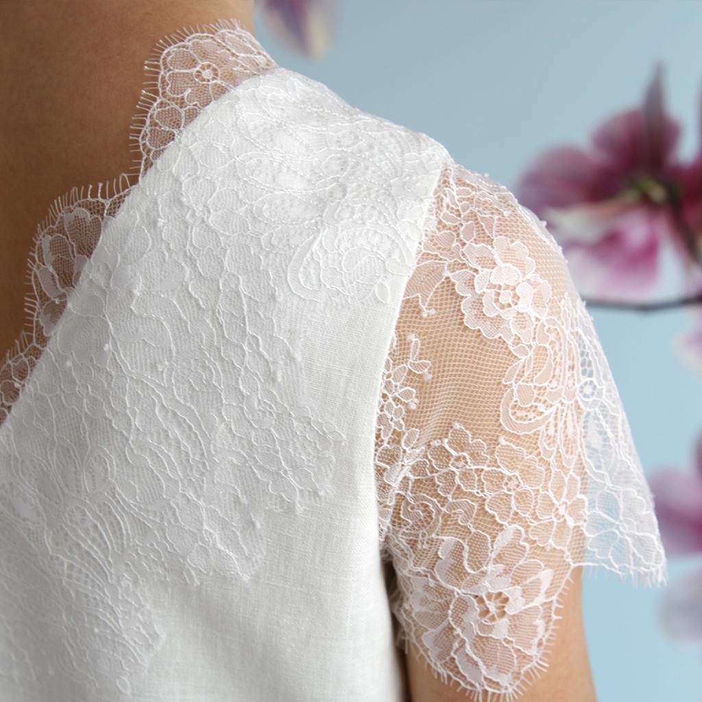 Leinen Hochzeitskleid