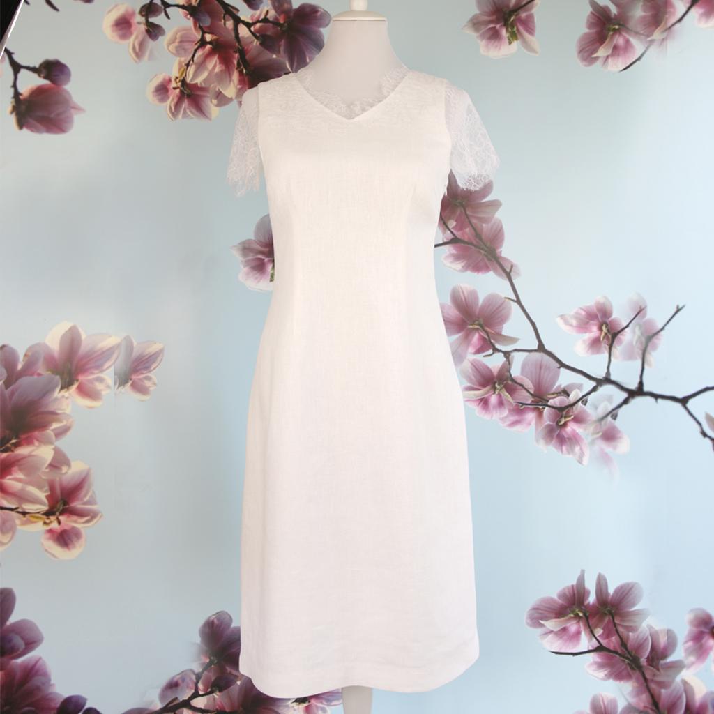 schlichtes Kleid für das Standesamt