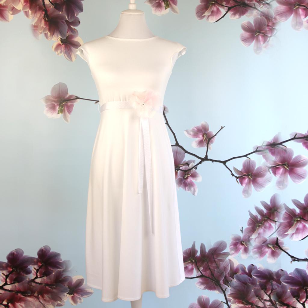 Brautkleid weich aus Jersey