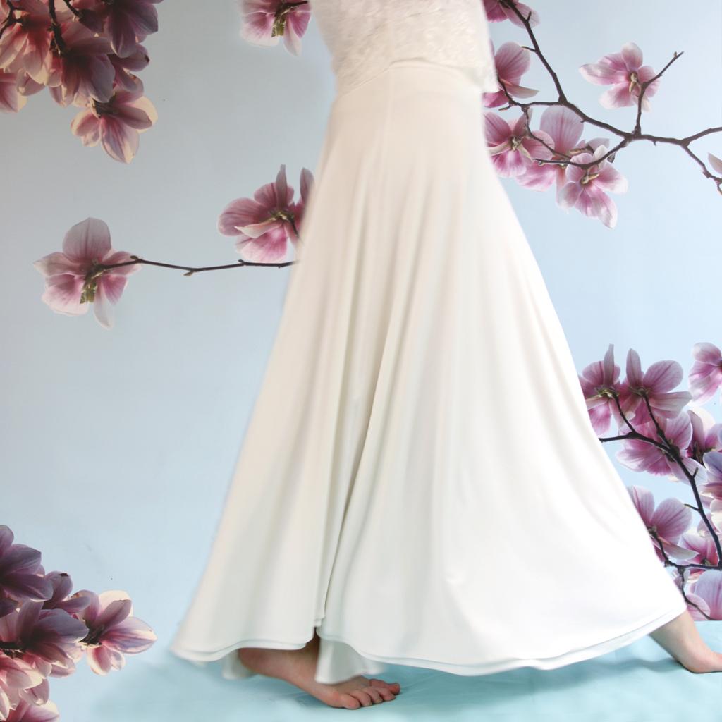 Ein langer Brautrock