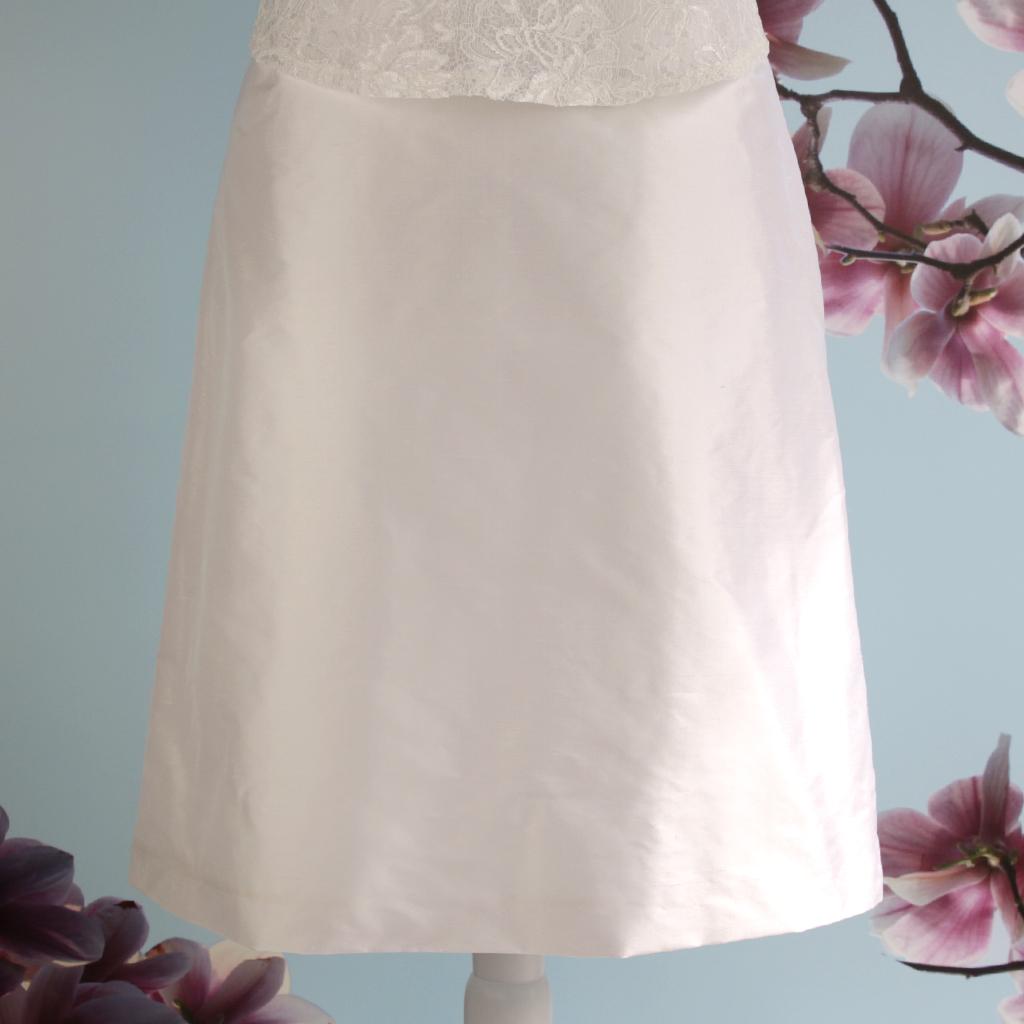Seidenrock für die Hochzeit