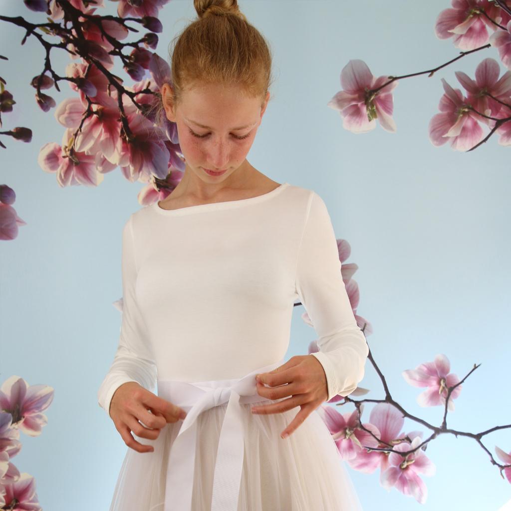 seidenweiches Brautshirt