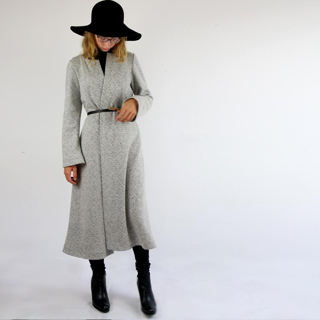 langer schlichter Mantel