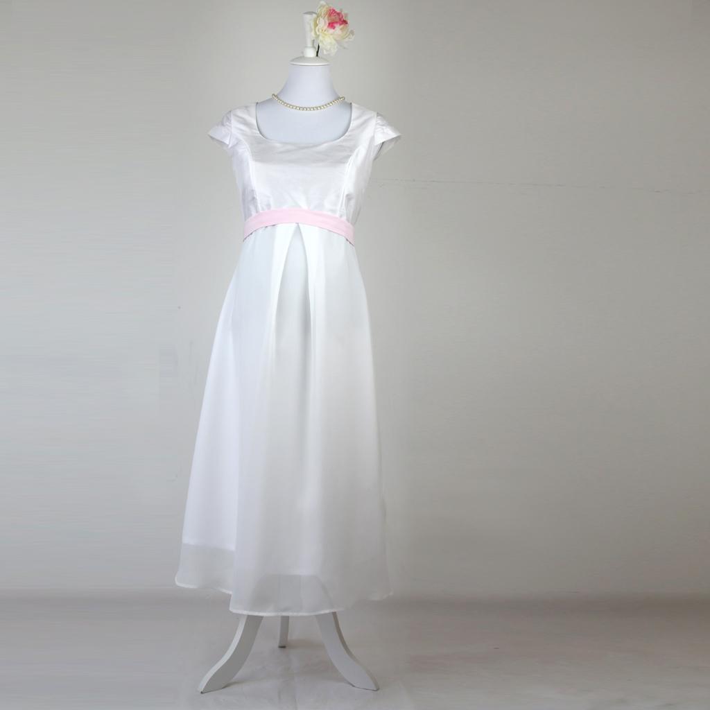 Hochzeitskleid mit Babybauch