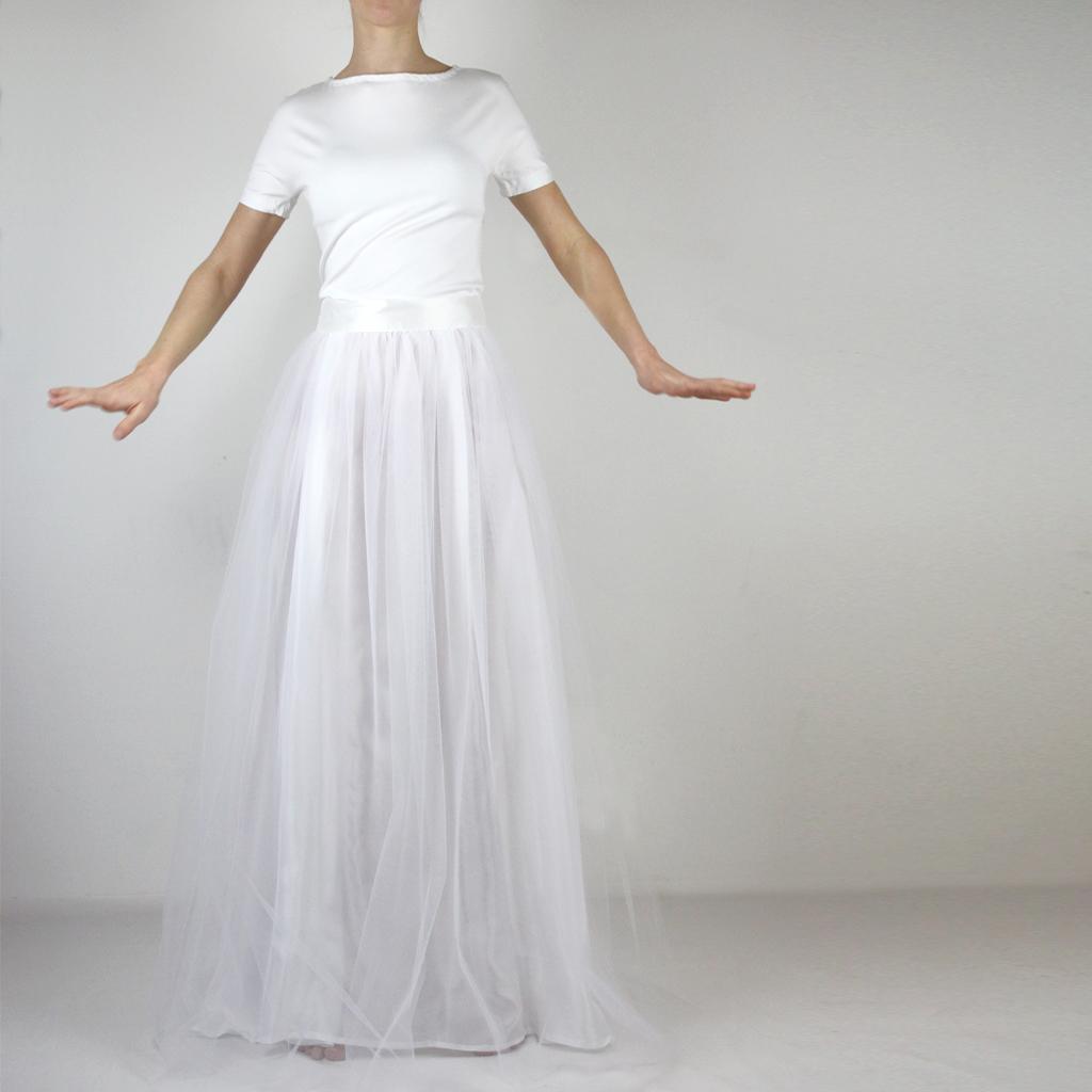 Zweiteiler für die Hochzeit der Tüllrock