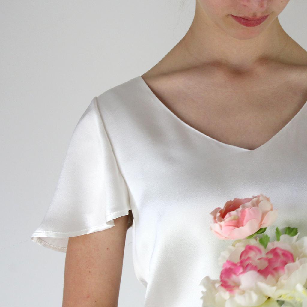 ivory Hochzeitskleid
