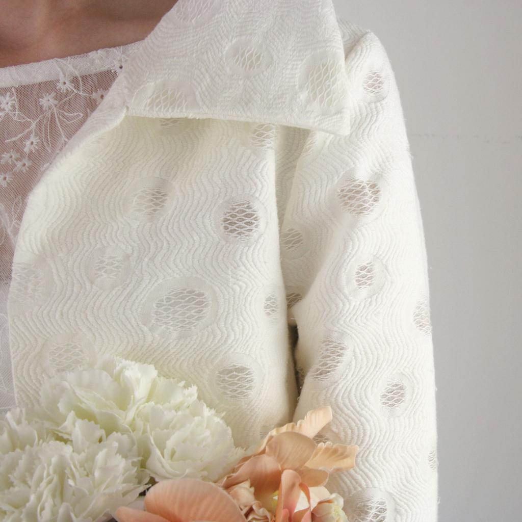 moderner Brautmantel