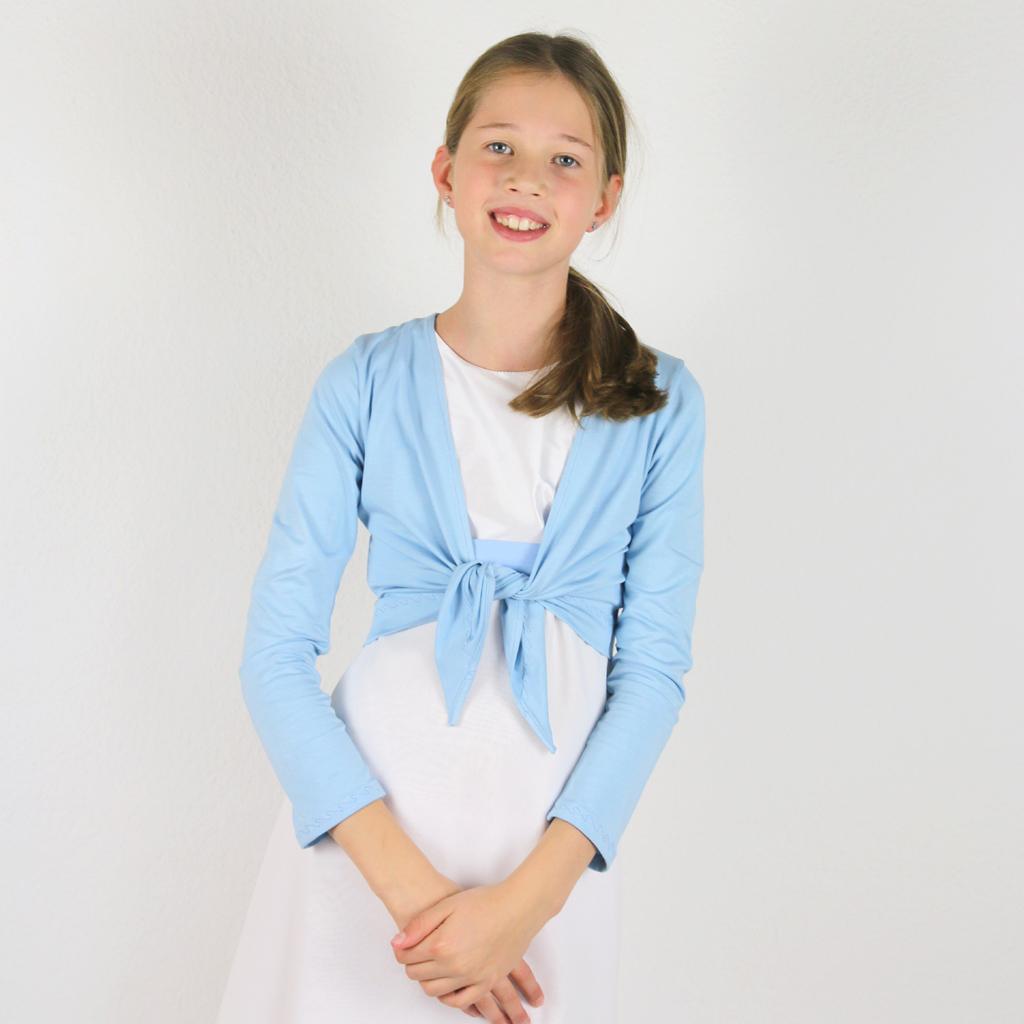 blaue feine Mädchenjacke