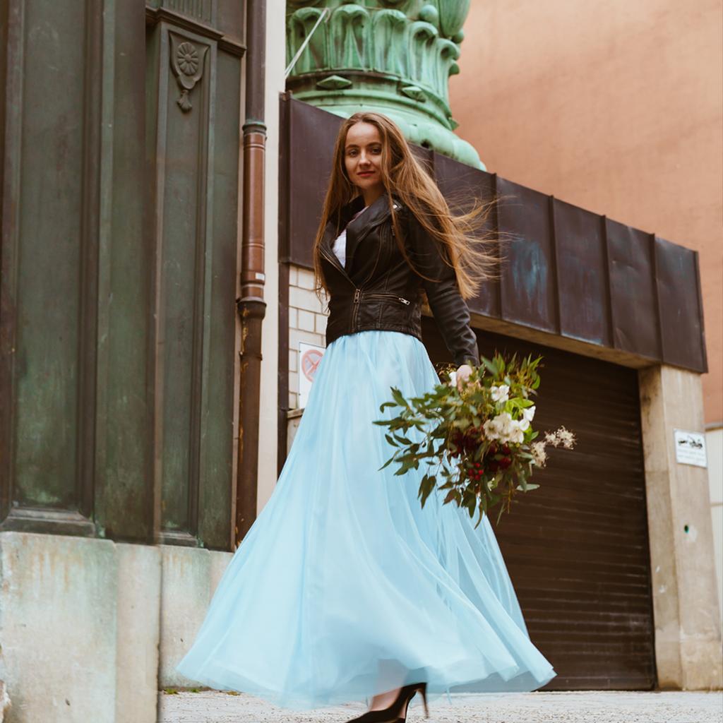 farbiger Hochzeitstüllrock