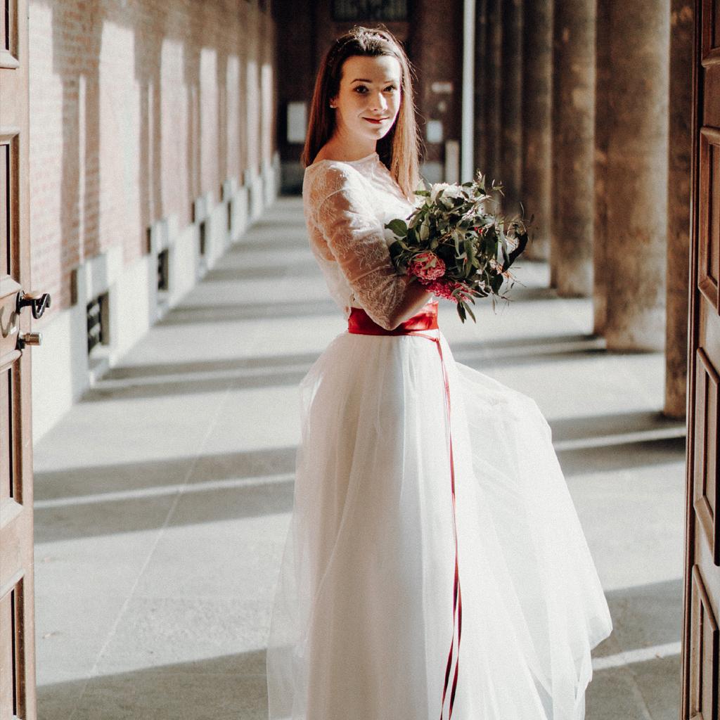 schlichter Brautzweiteiler