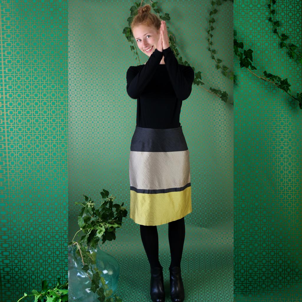 Seidenrock für viele Gelegenheiten. Aus dem Atelier ma-eins in München. Slowfashion und mit liebe zum Detail
