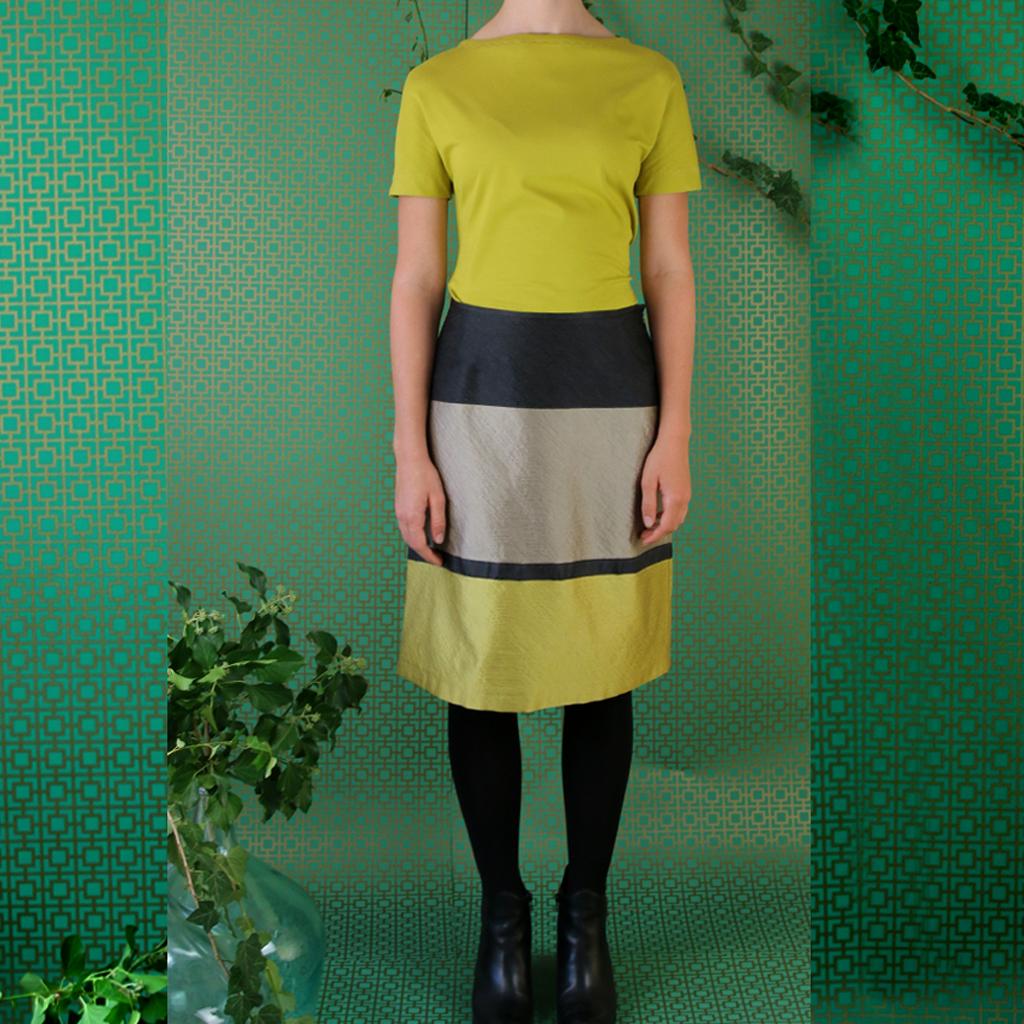 besonderer Damenrock in schönen Blockprint nicht nur für festliche Gelegenheiten. fashionlabel aus München ma-eins