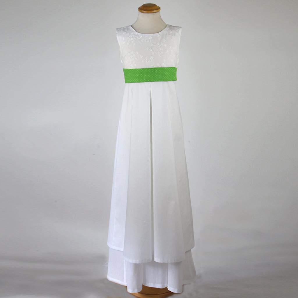 Mit hübschen Gürteln wird es zum Sommerkleid. Ein Kommunionkleid nicht nur für einen Anlass. In München angefertigt und deutschlandweit versendet.