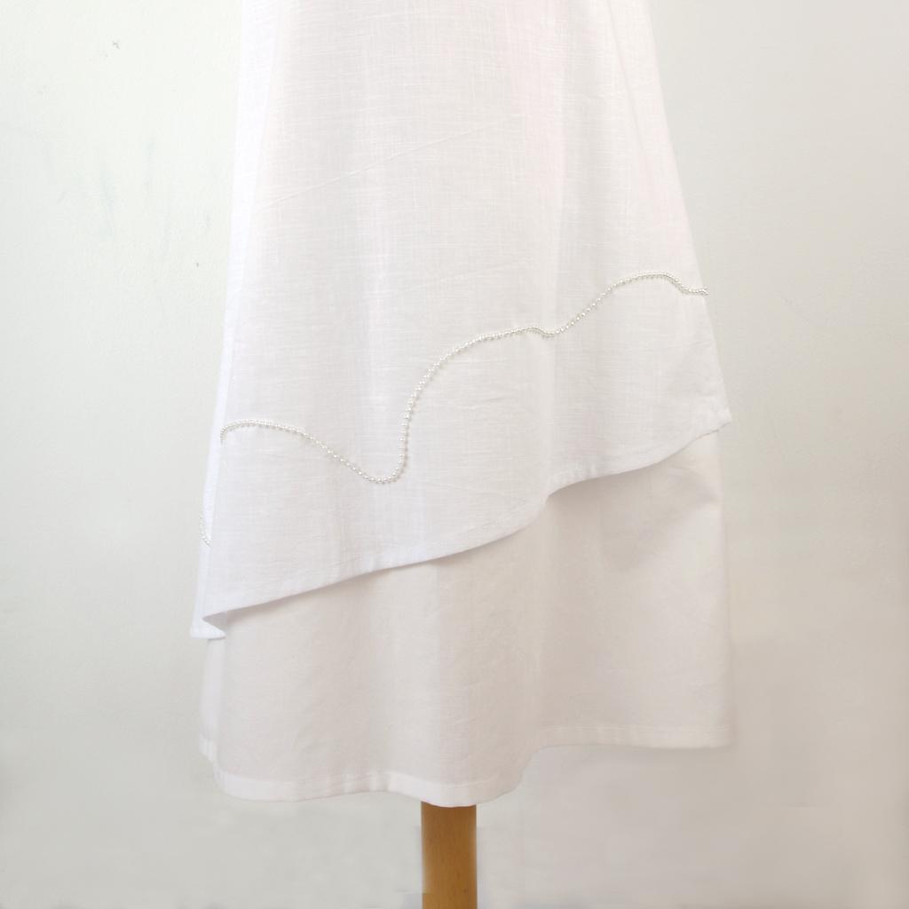 Baumwoll Kommunionkleid. Label ma-eins aus München fertigt schlichte und natürliche Kommunionkleider