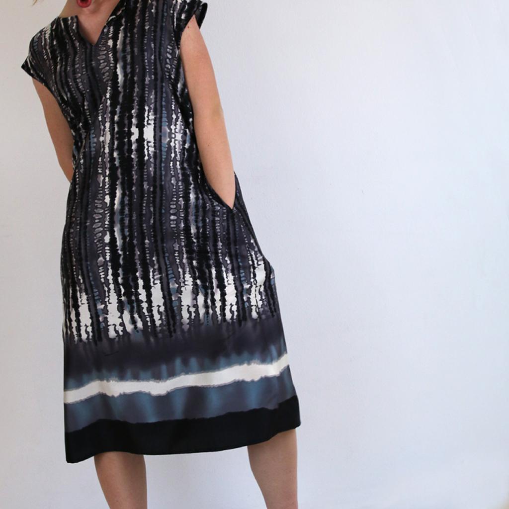 Tunika Kleid in München angefertigt. Das Label ma-eins steht für Slowfashion und individuelle Anfertigung.