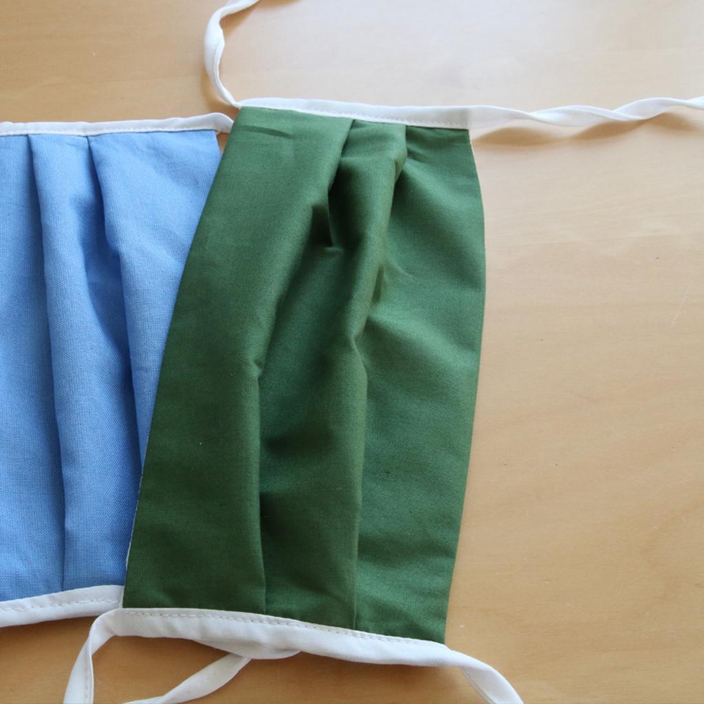 Gesichtsmasken mit Bindebänder. Das kleine Label ma-eins bietet jetzt Masken aus München an.