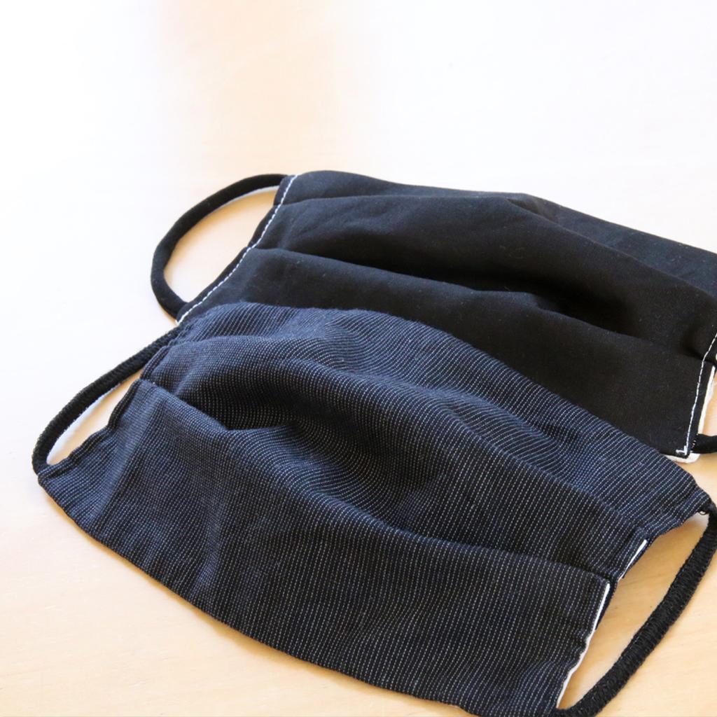 schwarze Baumwollmasken zu kaufen bei dem Label ma-eins in München. Fairfashion shoplocal