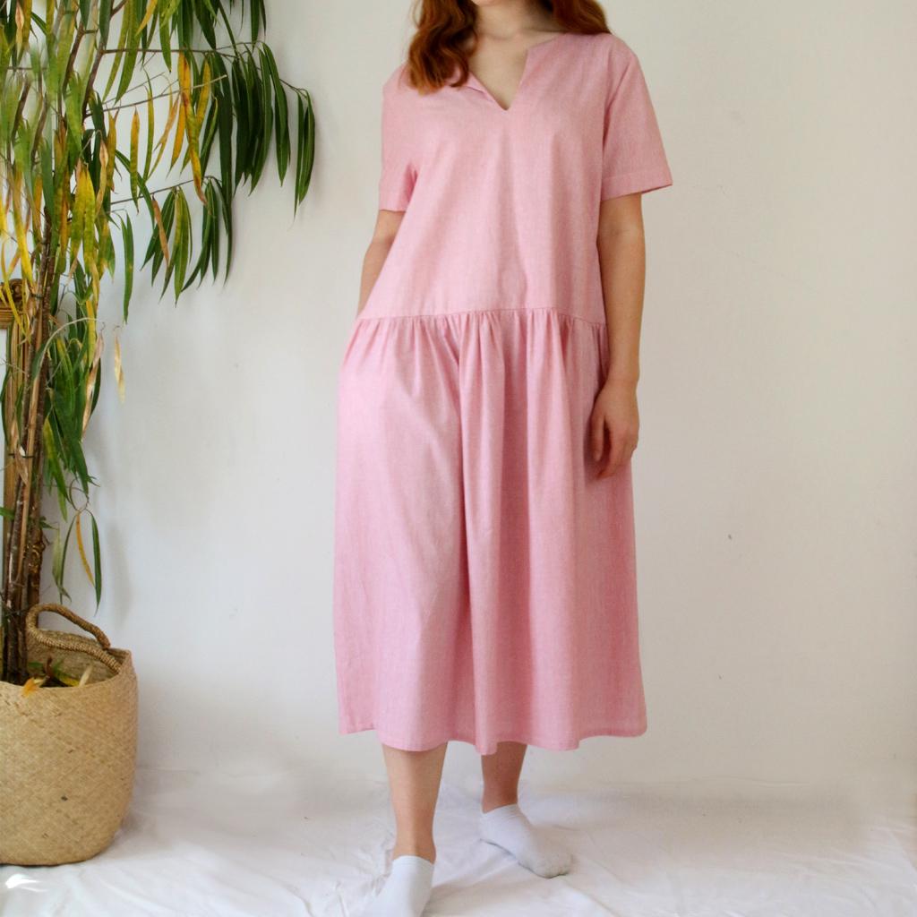 lockeres Sommerkleid für alle Größen. Angefertigt in München in der Isarvorstadt.