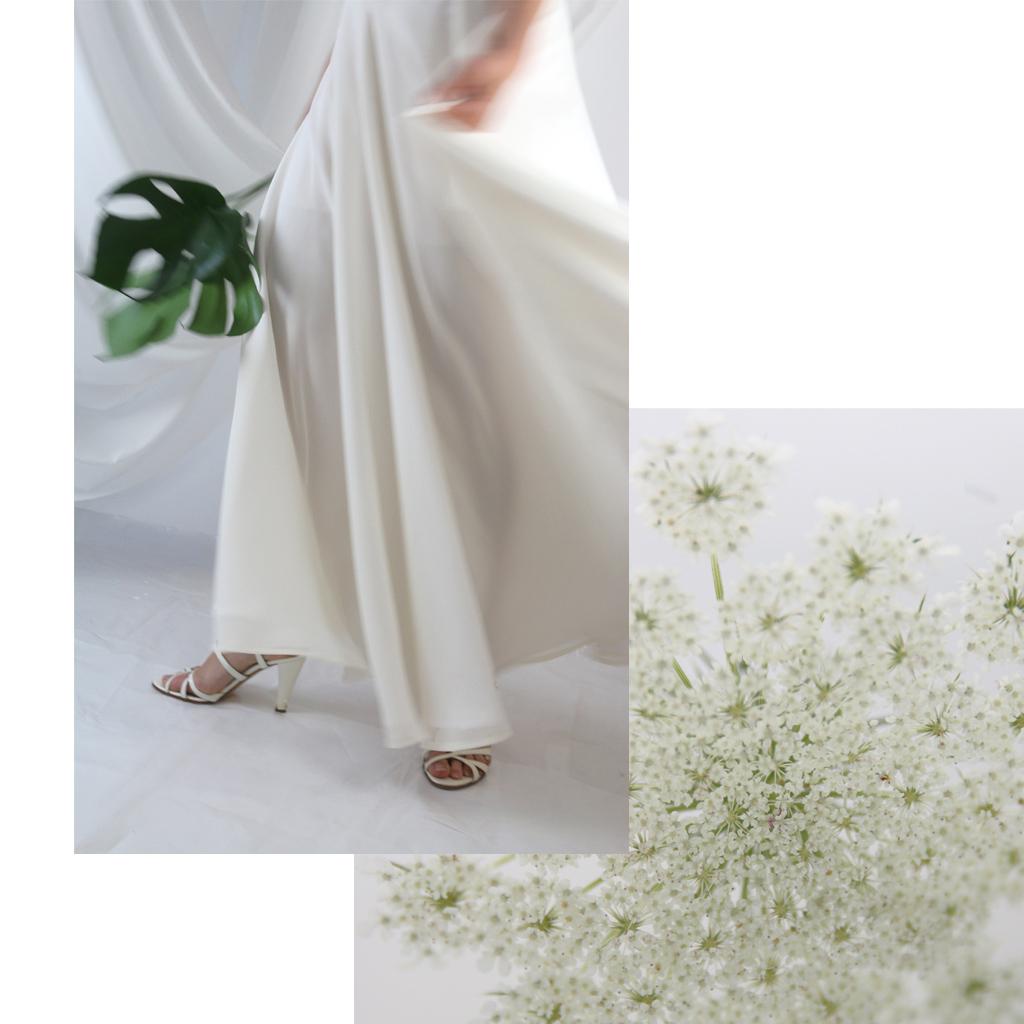 Heiraten in Bayern mit dem weit schwingenden Hochzeitsrock? Ja gern! Im Atelier ma-eins in München fertige ich dir dein individuelles Brautkleid.