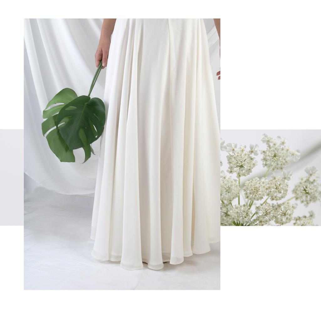 Mix-Match Brautmode handgefertigt aus München. Individuelle Hochzeitskleider von dem Label ma-eins.