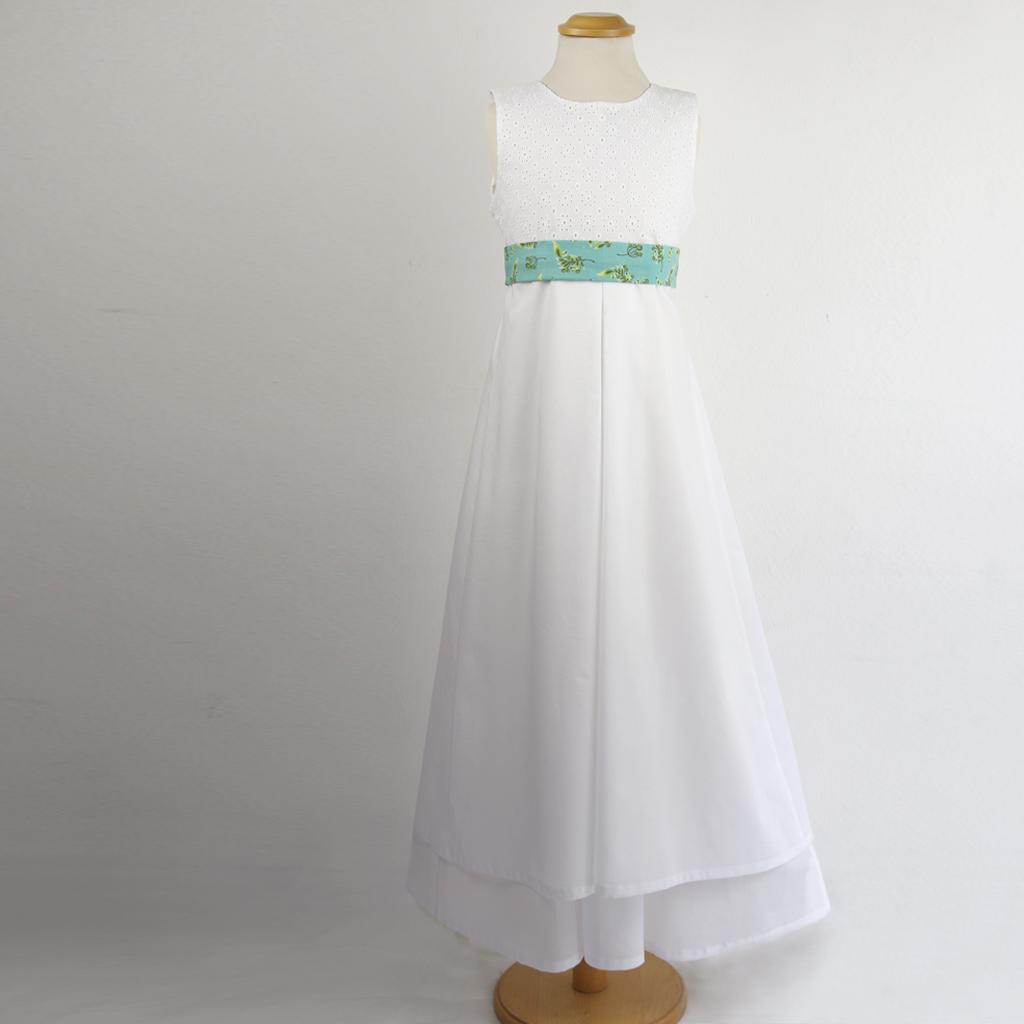 festliches Mädchenkleid das auch im Sommer schön getragen werden kann.