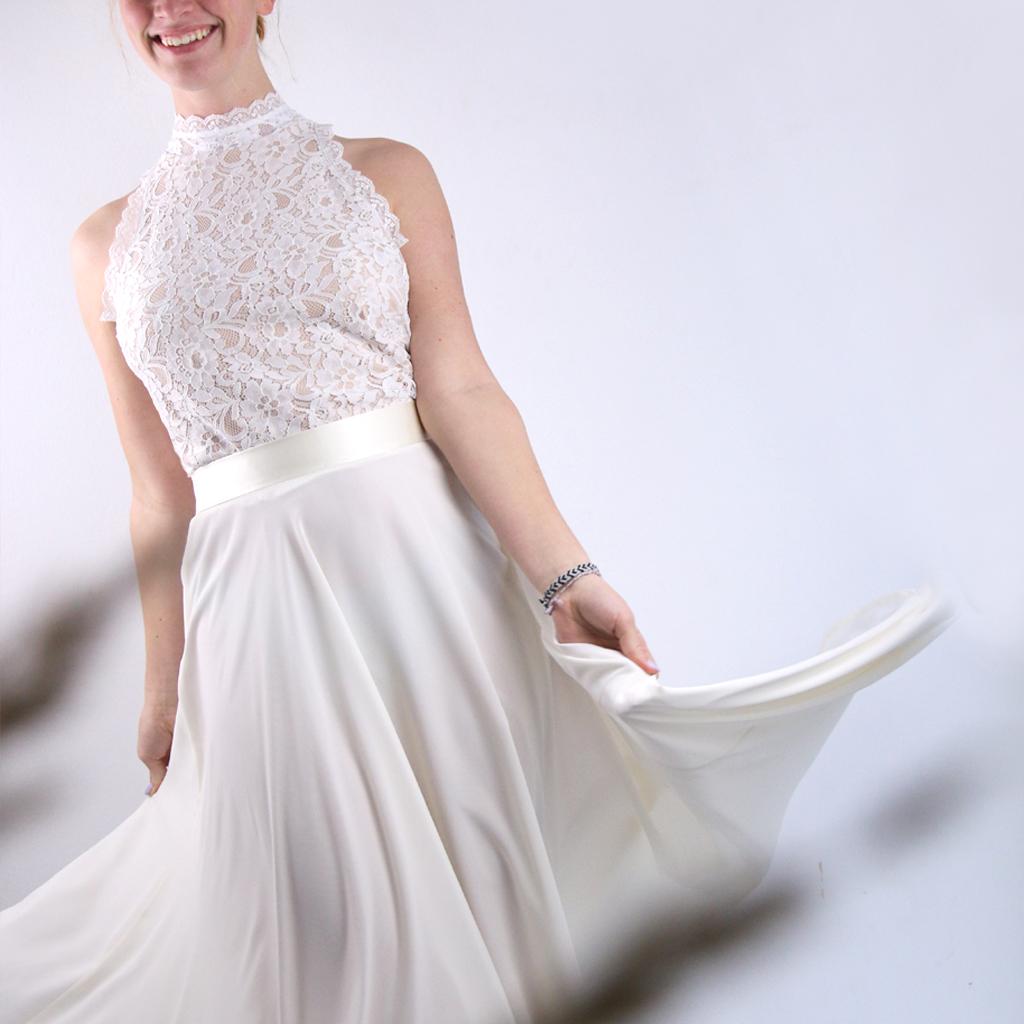 Ein individuelles Hochzeitskleid aus München. Fair hergestellt und nachhaltig