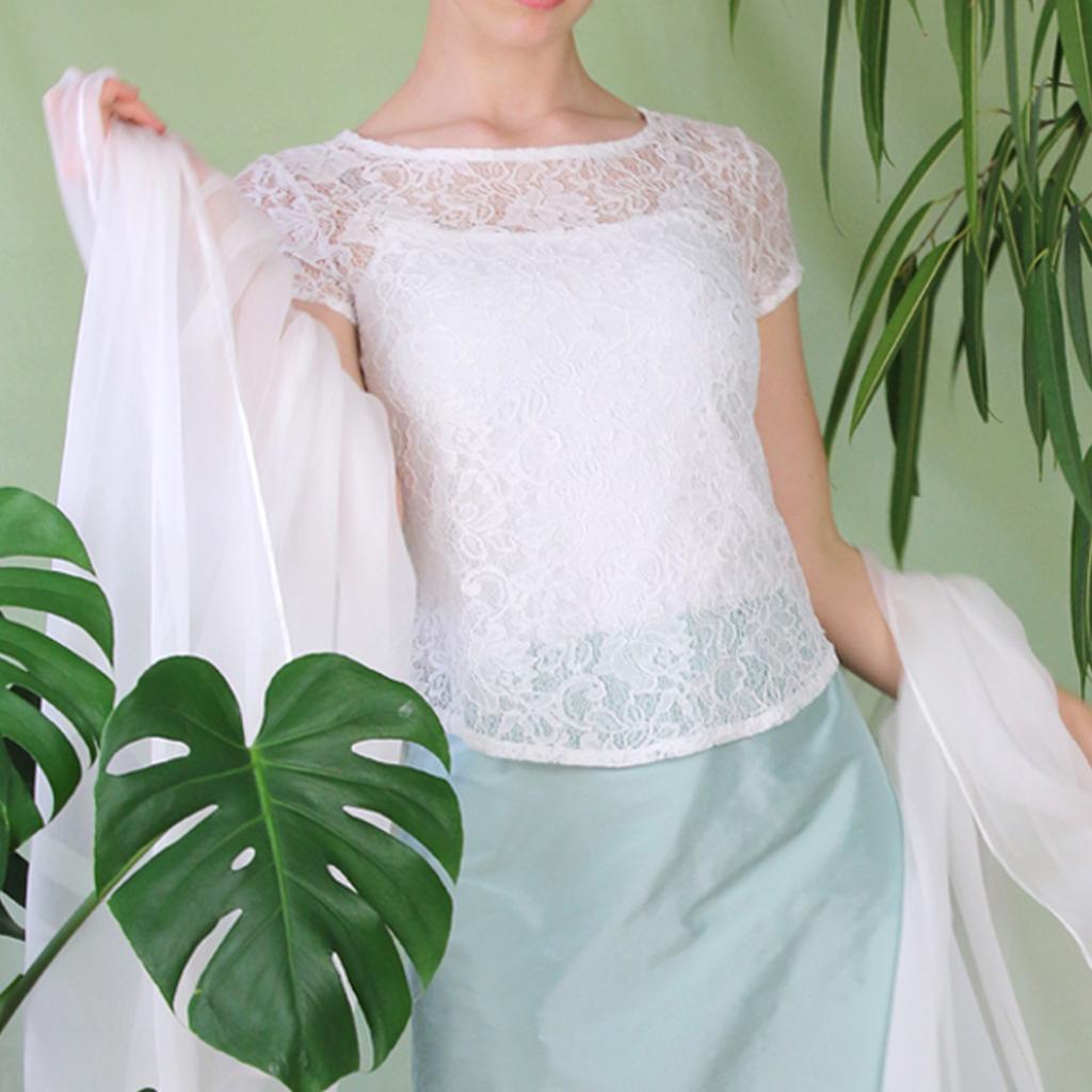 Standesamt Kleid mit Spitzentop aus München