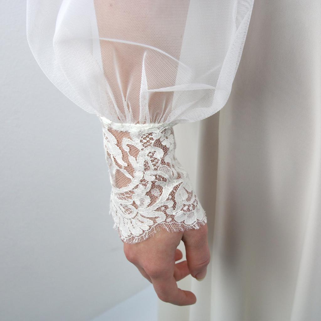 Tüllbluse für ein Mix Match Brautkleid. Hochzeitskleider aus München
